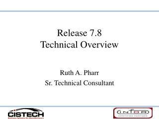Release 7.8 Technical Overview