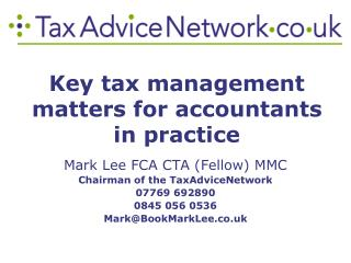 Key tax management matters for accountants in practice