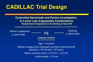 CADILLAC Trial Design
