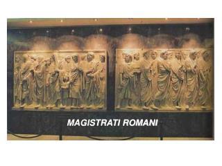I MAGISTRATI DELLO STATO ROMANO