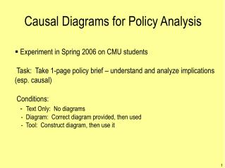 Causal Diagrams for Policy Analysis