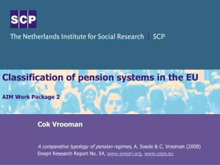 Classification of pension systems in the EU  AIM Work Package 2