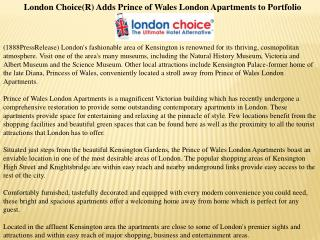 london choice(r) adds prince of wales london apartments to p