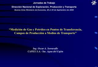 Medici n de Gas y Petr leo en Puntos de Transferencia, Campos de Producci n a Medios de Transporte
