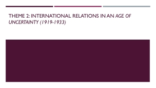 Les relations de parit  internationale