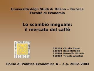 Universit  degli Studi di Milano   Bicocca Facolt  di Economia