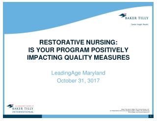 Quality Measures in Rehabilitation