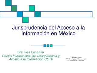 Jurisprudencia del Acceso a la Informaci n en M xico
