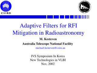 Adaptive Filters for RFI Mitigation in Radioastronomy