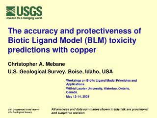 The accuracy and protectiveness of Biotic Ligand Model BLM toxicity predictions with copper