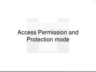 Permission or Prohibition