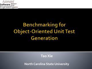 Benchmarking for  Object-Oriented Unit Test Generation