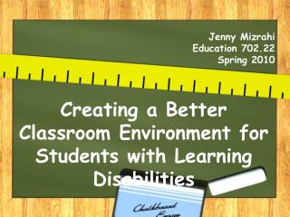 Jenny Mizrahi Education 702.22 Spring 2010