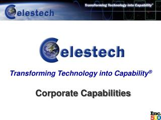 Transforming Technology into Capability  Corporate Capabilities