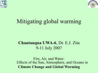 Mitigating global warming