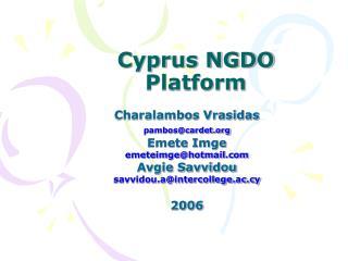 Cyprus NGDO Platform