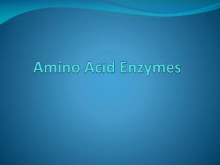 Amino Acid Enzymes