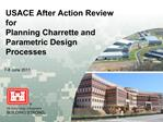 USACE After Action Review for Planning Charrette and Parametric Design Processes