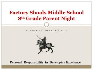 Factory Shoals Middle School 8th Grade Parent Night