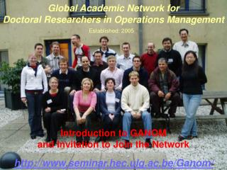 Global Academic Network for  Doctoral Researchers in Operations Management