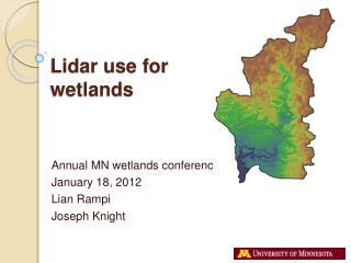 Lidar use for wetlands
