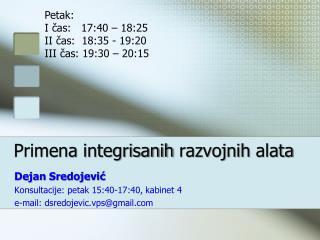 Primena integrisanih razvojnih alata