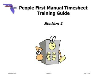 People First Manual Timesheet  Training Guide  Section 1