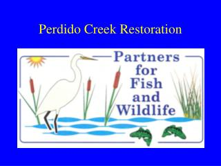 Perdido Creek Restoration