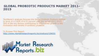 Global Probiotic Products Market 2011-2015