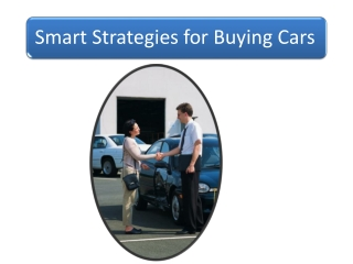 Smart Strategies for Buying Cars