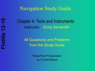 Chapter 4: Tools and Instruments