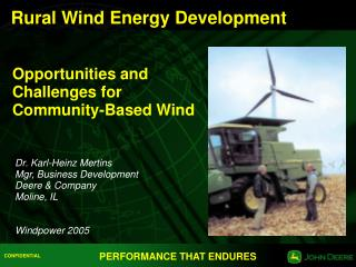 Rural Wind Energy Development