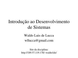 Introdu  o ao Desenvolvimento de Sistemas