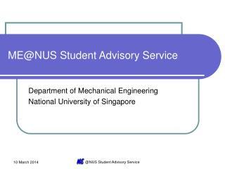 MENUS Student Advisory Service