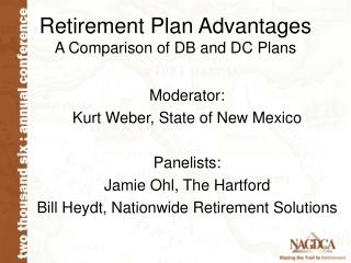 Retirement Plan Advantages A Comparison of DB and DC Plans