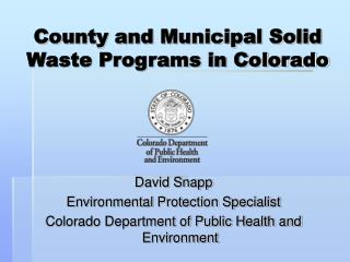 County and Municipal Solid Waste Programs in Colorado