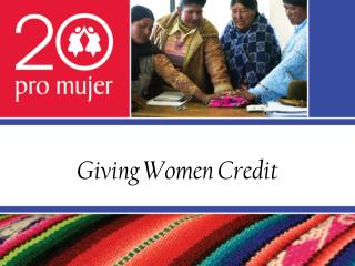 Giving Women Credit