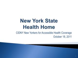 New York State Health Home