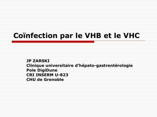 Co nfection par le VHB et le VHC