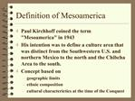 Definition of Mesoamerica