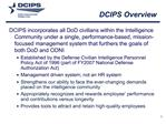 DCIPS Overview