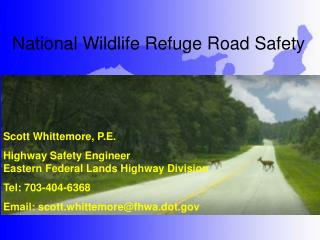 National Wildlife Refuge Road Safety
