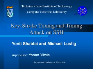 Key-Stroke Timing and Timing Attack on SSH