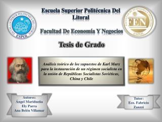 Escuela Superior Polit cnica Del Litoral   Facultad De Econom a Y Negocios