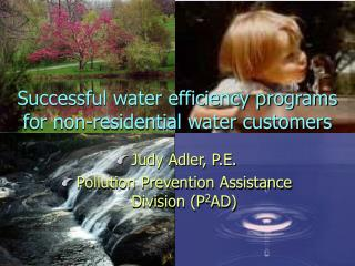 Successful water efficiency programs for non-residential water customers