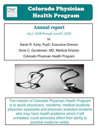 Colorado Physician Health Program