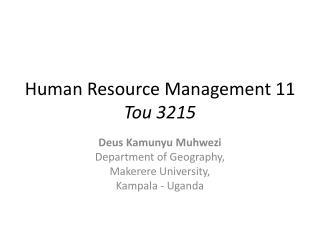 Human Resource Management 11 Tou 3215