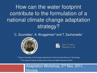 How can the water footprint contribute to the formulation of a national climate change adaptation strategy