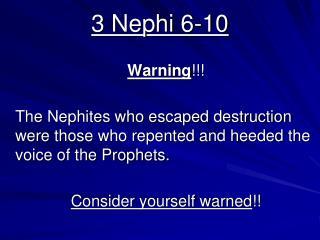 3 Nephi 6-10