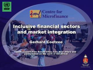Inclusive financial sectors and market integration